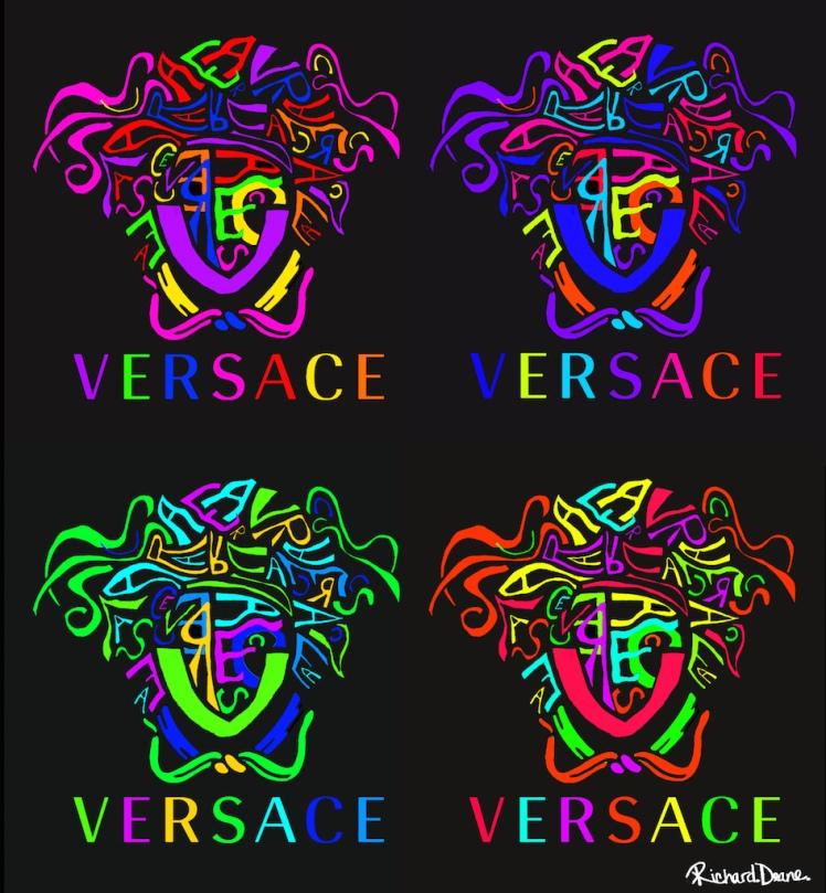 Abstract Versace Logo Multi Richard Deane